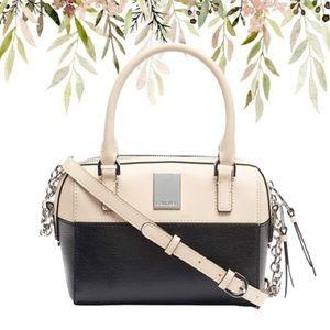 Calvin Klein Tonya Calf Leather Satchel …